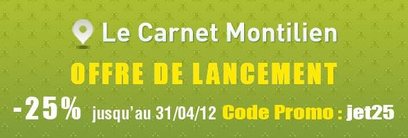 Le Carnet Montilien - Offre de Lancement -25%