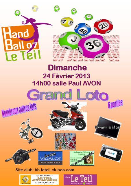 Loto du Handball Club Le Teil HB07