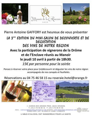 Salon des vins de la dr me et de l enclave au manoir de la roseraie le carnet montilien - Salon des vins la verpilliere ...